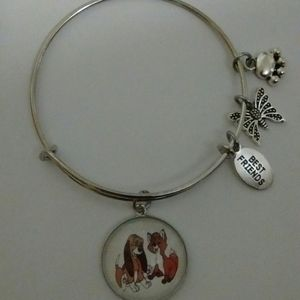 Disney Fox and the Hound Silver Bracelet